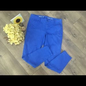 Gap Skinny Mini blue cropped khakis size 4
